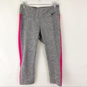 Nike Dri Fit Capri Workout Pants PINK Stripe Sz M